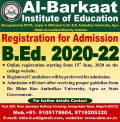 Registration Started for B.Ed. Admission for the session 2020-22
